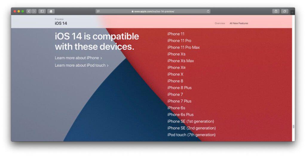 Die offizielle Liste der iPhones, die das iOS 14 Upgrade bekommen. Wer vorher schon iOS 13 nutzen könnte, wird ab Herbst 2020 auch die nächste Generation des OS aufspielen können.