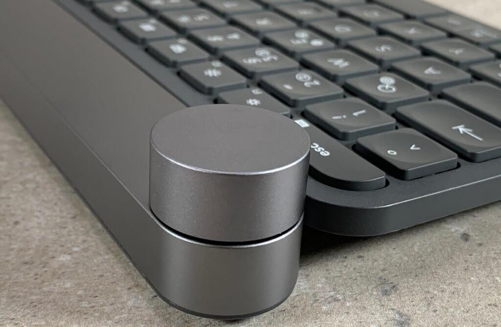 Die Crown ist ohne Zweifel das hervorstechende Merkmal der Logitech Craft Tastatur. Und ich bin sicher, das in die Entwicklung dieses Bauteils auch viel Gehirnschmalz geflossen ist (Fotos: Sir Apfelot).