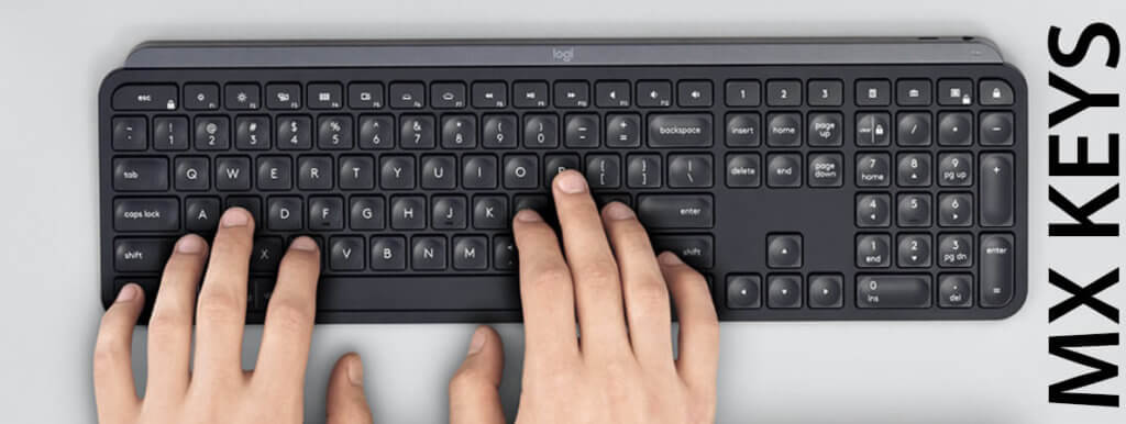Die MX Keys ist sozusagen der kleine Bruder der Craft und kommt ohne die Crown, aber sonst in ähnlich guter Qualität und mit gleichem Tastaturlayout (Foto: Logitech).