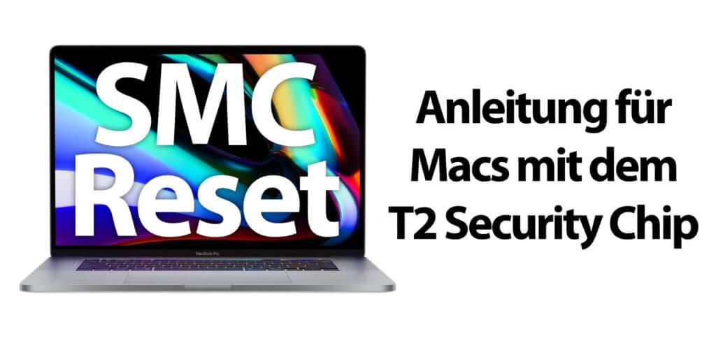 Hier findet ihr die Anleitung für einen SMC Reset am Apple MacBook mit T2 Security Chip. Der SMC-Reset bei MacBooks mit T2-Prozessor funktioniert anders als bei vorigen Modellen des Notebooks.