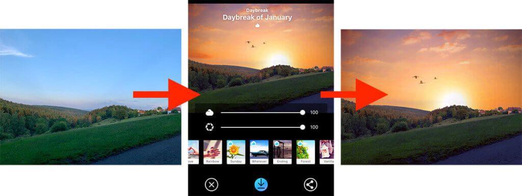 Mit der App Picnic kann man in kürzester Zeit ein Foto vom Aussehen verändern (Fotos: Sir Apfelot).