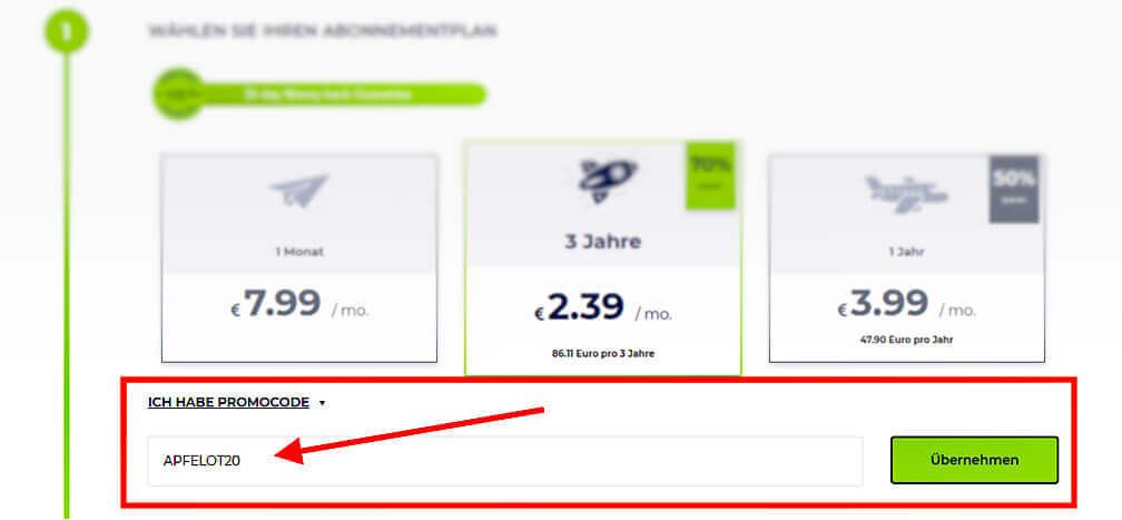 """Mit dem richtigen Gutscheincode bekommt man das güntsige RUSVPN noch günstiger: mit """"APFELOT20"""" sichert ihr euch 20% Rabatt."""