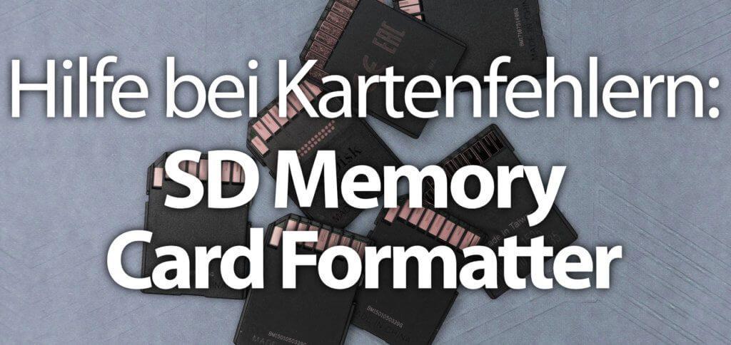 Ist die SD-Karte defekt? Zeigt das Gerät einen Fehler und meldet per Fehlermeldung, dass die SD nicht richtig funktioniert? Dann ist die SD Memory Card Formatter App die Lösung – natürlich auch für microSD, SDHC und SDXC ;) 32 GB, 64 GB, 128 GB, 512 GB