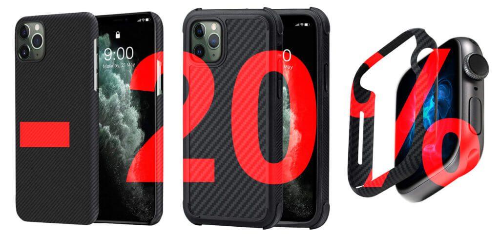 iPhone Hüllen und Apple Watch Case günstiger – 20% Rabatt auf Apple-Zubehör von Pitaka. Jetzt verschiedene MagEZ Cases mit Gutscheincode bei Amazon kaufen.