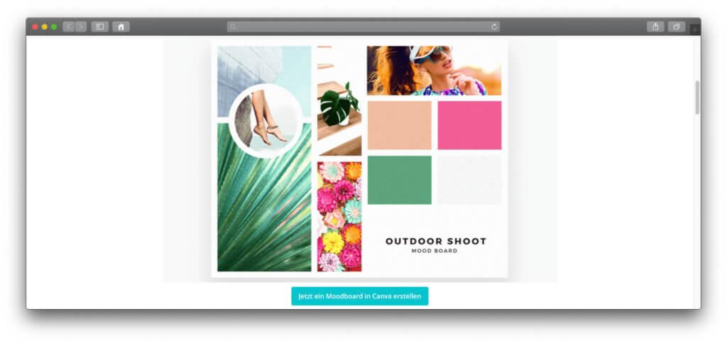 Mit Canva könnt ihr ohne eine App direkt im Webbrowser verschiedene Design-Projekte realisieren. Auch Moodboards! Pinterest 2020