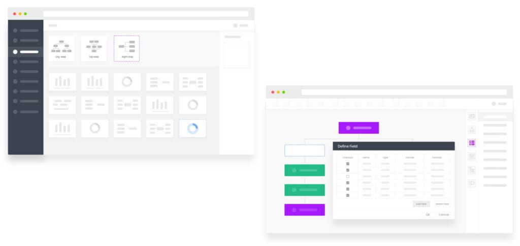 Für euer Organigramm aus CSV-, Excel- oder TXT-Daten könnt ihr verschiedene Vorlagen und professionelle Layouts nutzen. So lassen sich die Daten auch anschaulich sowie interaktiv präsentieren.