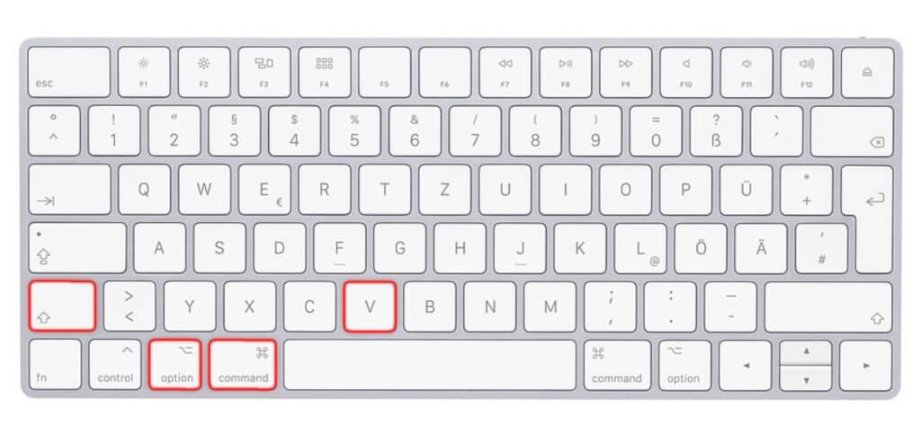 Einsetzen und Stil anpassen, dafür ist dieser Mac Shortcut da. Er funktioniert in Pages, Mail, Numbers und so weiter. In Microsoft Office Apps scheint er nicht zu funktionieren.