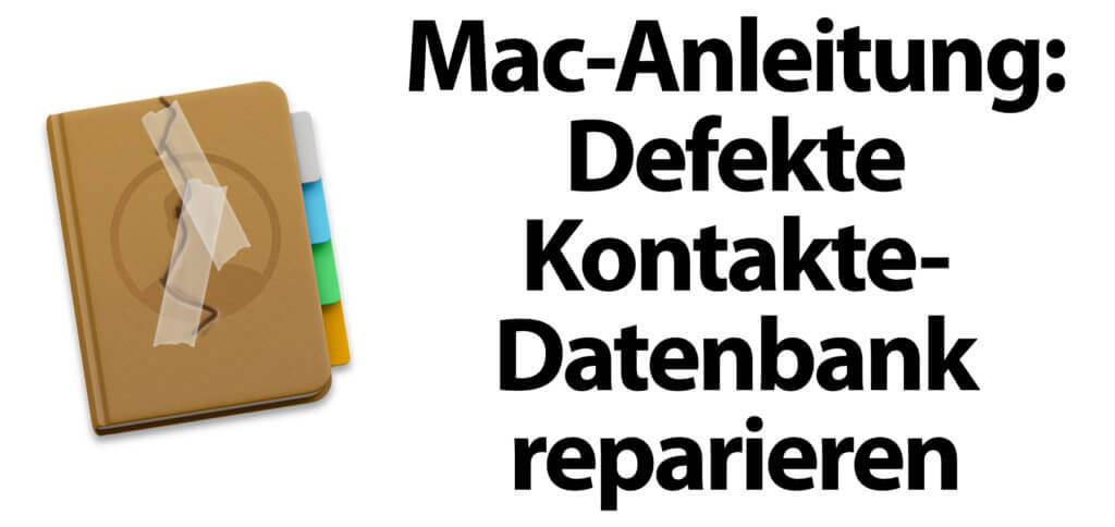 Wollt ihr am Mac eine defekte Kontakte-Datenbank reparieren, hilft euch die hiesige Anleitung. So klappt auch das Ändern von Kontakten und deren E-Mail, Adresse, Telefonnummer, etc. wieder.