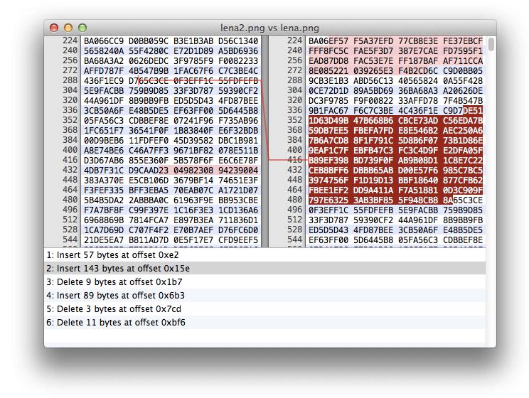 Dateien im Hex-Editor vergleichen mit dem Binary Diff Feature. Wo wurde etwas gelöscht? Wo wurde etwas hinzugefügt? Hier findet ihr es raus!