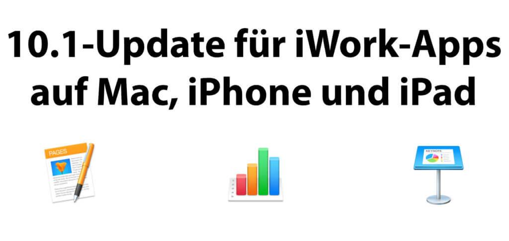 Die drei Apples iWork Apps namens Pages, Numbers und Keynote wurden sowohl für Mac als auch für iPhone und iPad auf die Version 10.1 aktualisiert. Hier erfahrt ihr, was daran neu ist.