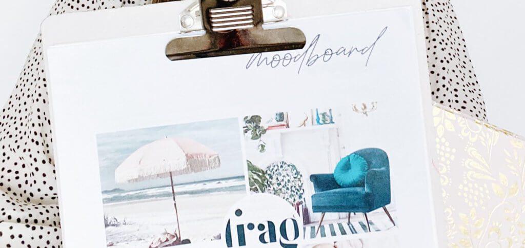 Was ist ein Moodboard? Es ist eine Collage aus Bildern, Texturen, Wörtern, Fotos, Gegenständen und / oder anderen anschaulichen Sachen, die eine Idee und einen Stil transportieren können.