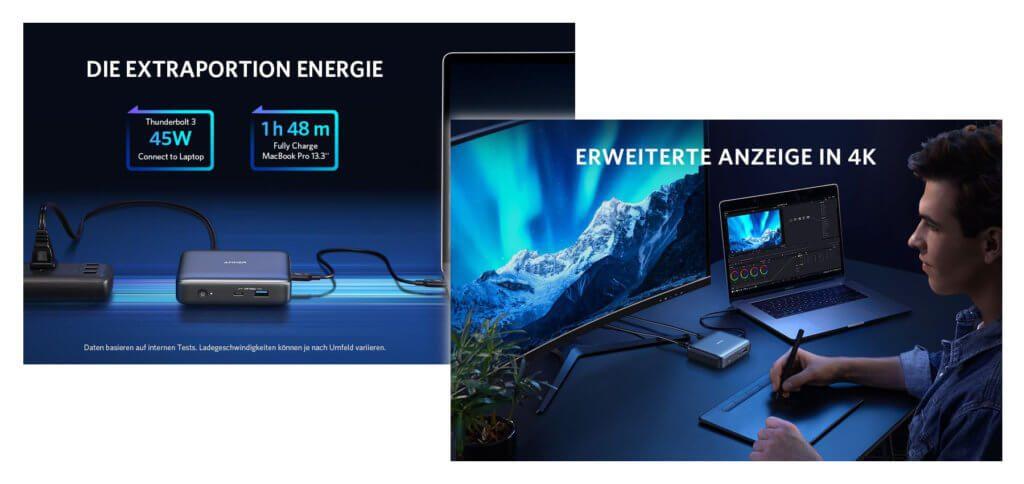 Das Anker PowerExpand ist ein 7-in-1 Thunderbolt 3 Dock fürs Apple MacBook Air oder MacBook Pro mit 13,3 Zoll Display. Ein stärkeres Modell findet ihr ganz unten ;)