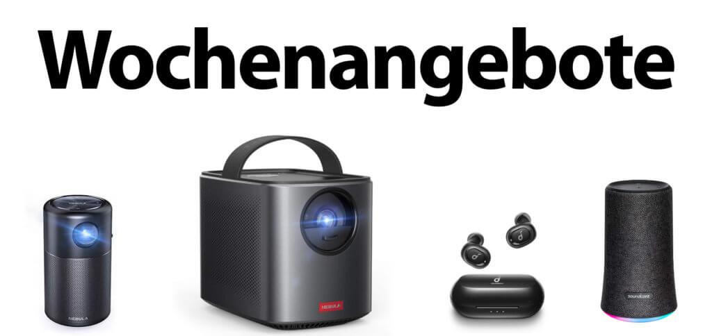 Bei den Anker Wochenangeboten für die KW 33 in 2020 gibt es Nebula-Beamer und Soundcore-Produkte günstiger. Hier findet ihr die Links zu den richtigen Amazon-Seiten.