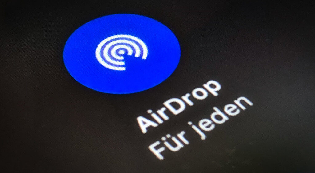 Was ist Apple AirDrop? Und wie funktioniert es? Hier erfährst du, was es mit dem Feature auf sich hat (Foto: Sir Apfelot).
