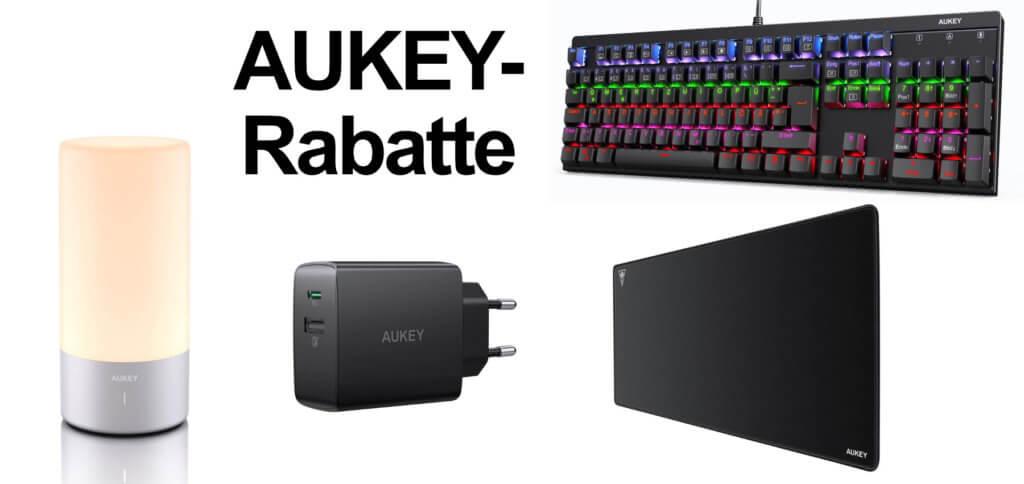 Von AUKEY gibt es neue Rabattcodes und Coupons für den Einkauf bei Amazon. Diese Woche bekommt ihr eine Lampe, ein Ladegerät, ein XXL Mauspad sowie eine Gaming-Tastatur günstiger.