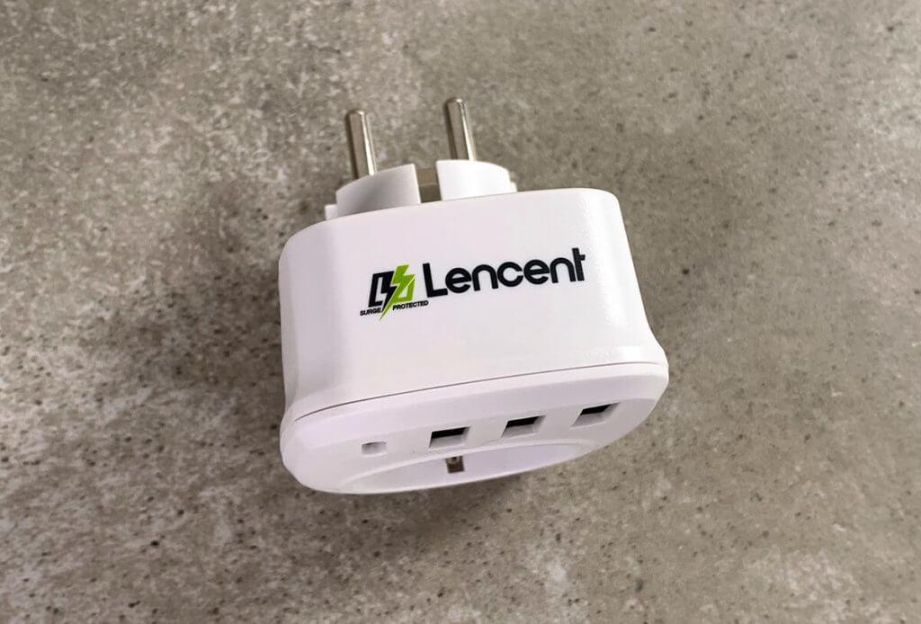 Meine Wahl fiel auf den Steckdosenadapter von Lencent, da diese die meisten USB-A-Ports und einen USB-C-Port zur Verfügung stellt.