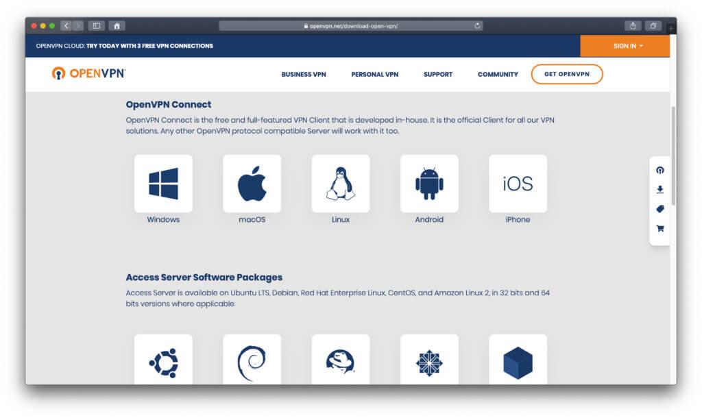 Die offizielle Webseite zur Software bietet den OpenVPN Download, Access Server Hilfestellungen und mehr. Kaufversionen sind für Privat und Unternehmen erhältlich.