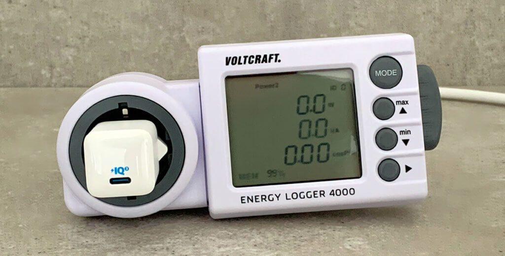 Der Standby-Stromverbrauch des Anker PowerPort III Nano liegt bei unter 0,1 Watt und wird aus dem Grund vom Messgerät nicht erkannt (Fotos: Sir Apfelot).