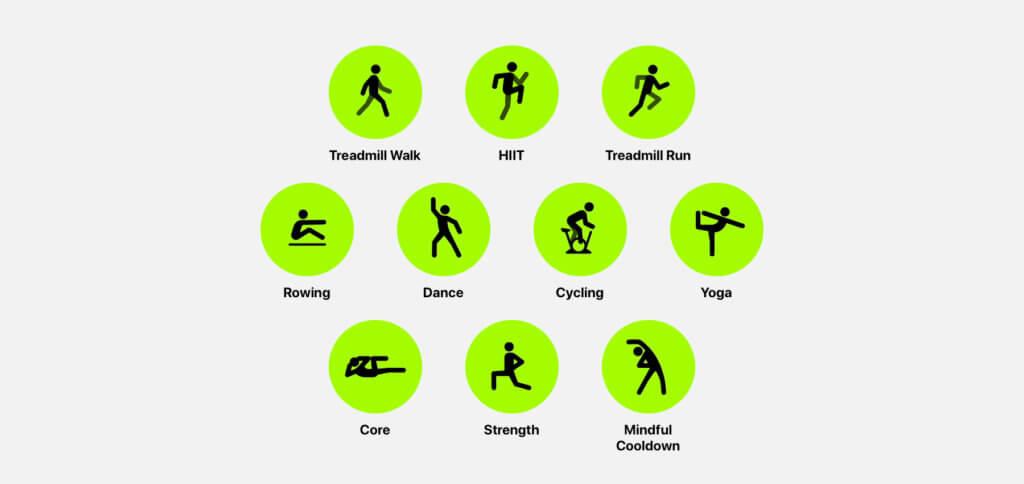Zum Angebot gehören Workouts und Trainings mit und ohne speziellem Equipment.