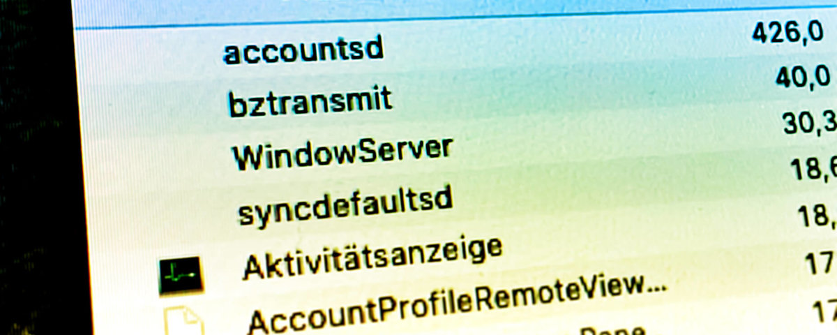 Hohe CPU Last durch Prozess accountsd