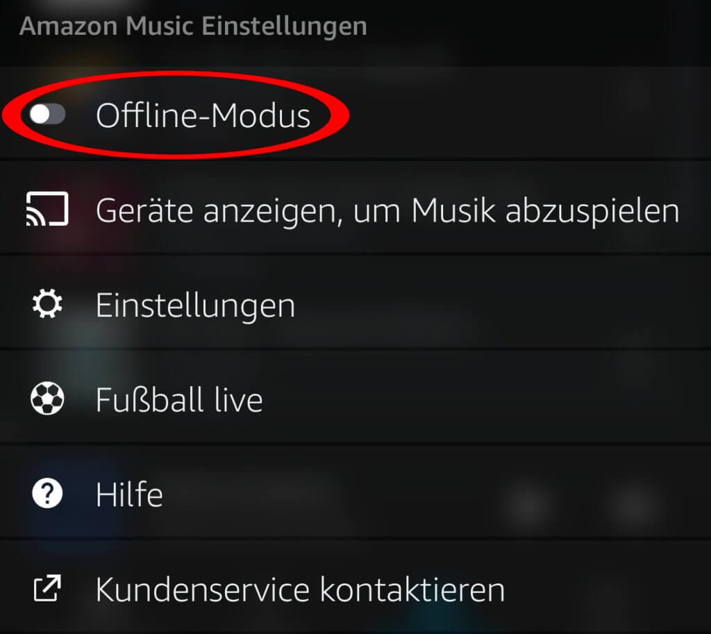 Für die unten stehende Anleitung muss der Offline-Modus der App deaktiviert werden.