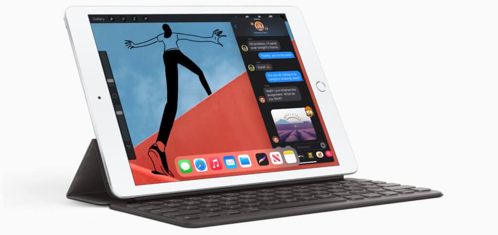 Das neue Apple iPad der 8. Generation von 2020 bietet keine umwerfenden Neuerungen, aber ist zumindest mit dem Apple Pencil der 1. Generation und dem Magic Keyboard kompatibel. So kommen alle Vorteile aus iPadOS 14 zum Einsatz.