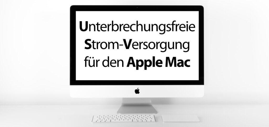 Unterbrechungsfreie Stromversorgung auch bei Stromausfall, das geht –zumindest für einige Minuten – mit einem USV-Gerät für den Apple Mac und Windows PC. Doch welche Hersteller und Modelle kommen in Frage? Hier der Versuch, die Frage zu beantworten.