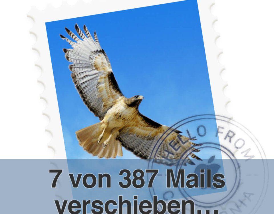 Verschieben von Mails am Mac