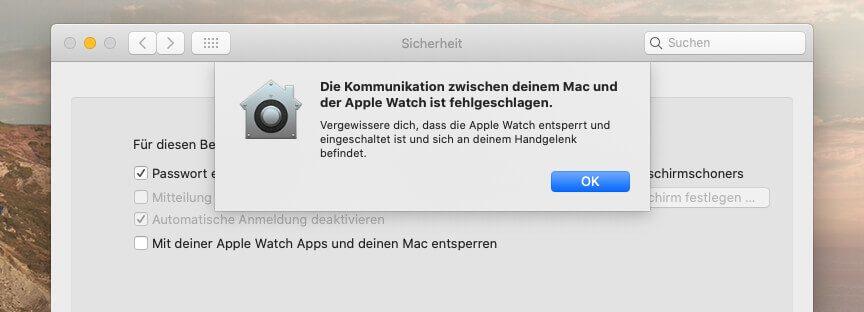 Kommunikation mit der Apple Watch ist fehlgeschlagen… das Problem lässt sich lösen.