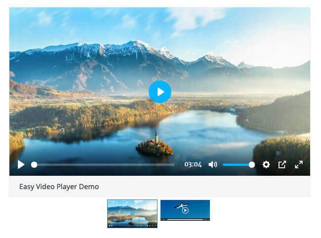 """Nutzt man das Plugin """"Easy Video Player"""", sieht der Media-Player zum Beispiel so aus."""