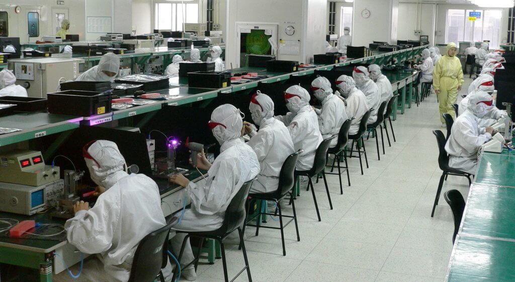 Foxconn Werk in Shenzhen im Jahr 2005 (Foto Steve Jurvetson/Wikimedia).
