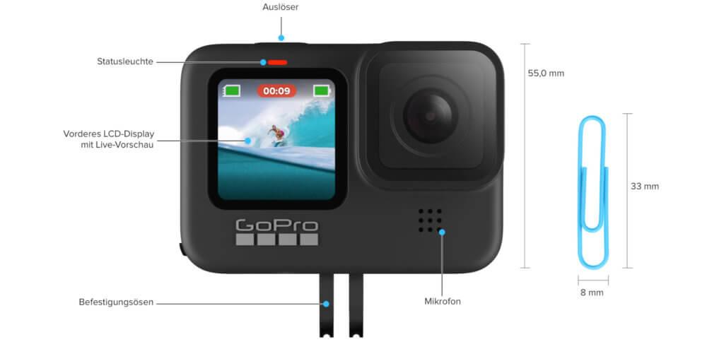 Die GoPro HERO9 Black ist zwar klein, aber voll moderner Technik. Die robuste Action Cam vom Marktführer bietet 5K Video, 20 MP Fotos und eine starke Bildstabilisierung. Was noch? Das lest ihr in diesem Beitrag. GoPro Hero 9 Schwarz