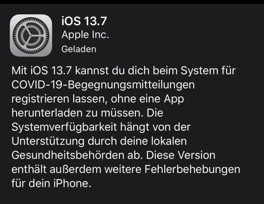 Apple informiert wie gewohnt kurz und knapp vor dem Update, was es Neues gibt.