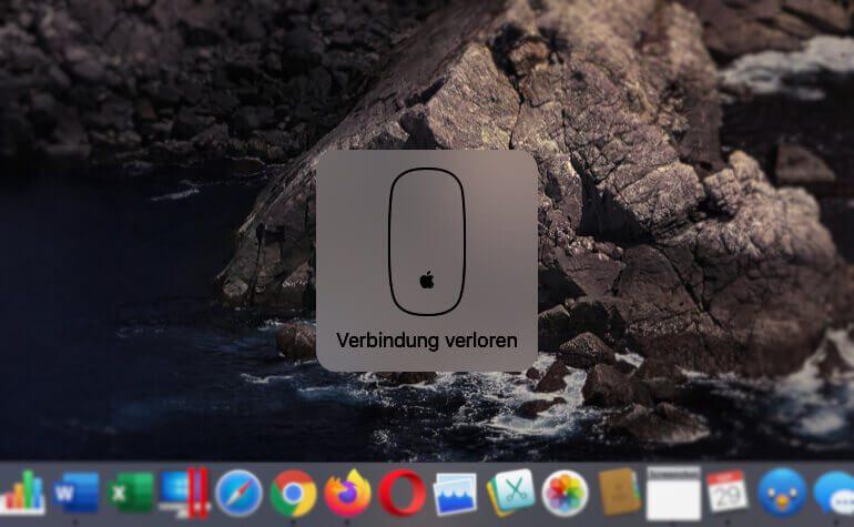 Ein immer wieder auftretender Verlust der Verbindung deutet bei der Magic Mouse 1 auf wackelige Batterien hin.