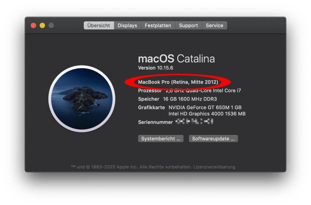 """Welches Apple Mac Modell habe ich? In """"Über diesen Mac"""" findet ihr es heraus ;)"""