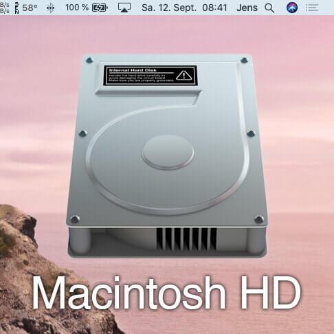 Macintosh HD Icon nicht auf Desktop