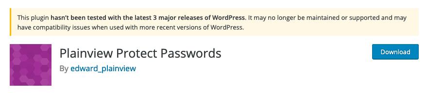 Nach einigem Rumprobieren mit PHP-Scripten hat sich das Plainview Protect Passwords Plugin letztendlich als die beste Lösung herauskristallisiert.