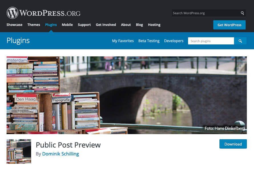 """Das Plugin """"Public Post Plugin"""" ermöglicht, dass man eine Artikelvorschau mit anderen Leuten teilen kann."""