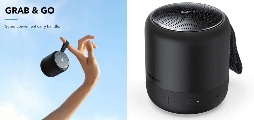 Der neue Anker Soundcore Mini 3 Bluetooth-Lautsprecher bietet einen 6 Watt Treiber, bis zu 15 Stunden Laufzeit, USB-C, Wasserdichte und mehr.