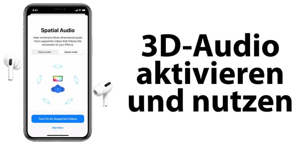 3D-Audio aktivieren und nutzen: So geht's! Hier findet ihr die Anleitung zum Aktiveren von Spatial Audio am iPhone und iPad sowie kostenlose Quellen für Filme und Serien (inkl. Netflix und tv+).