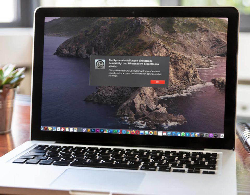 Mac-Fehler: Systemeinstellungen sind gerade beschäftigt…