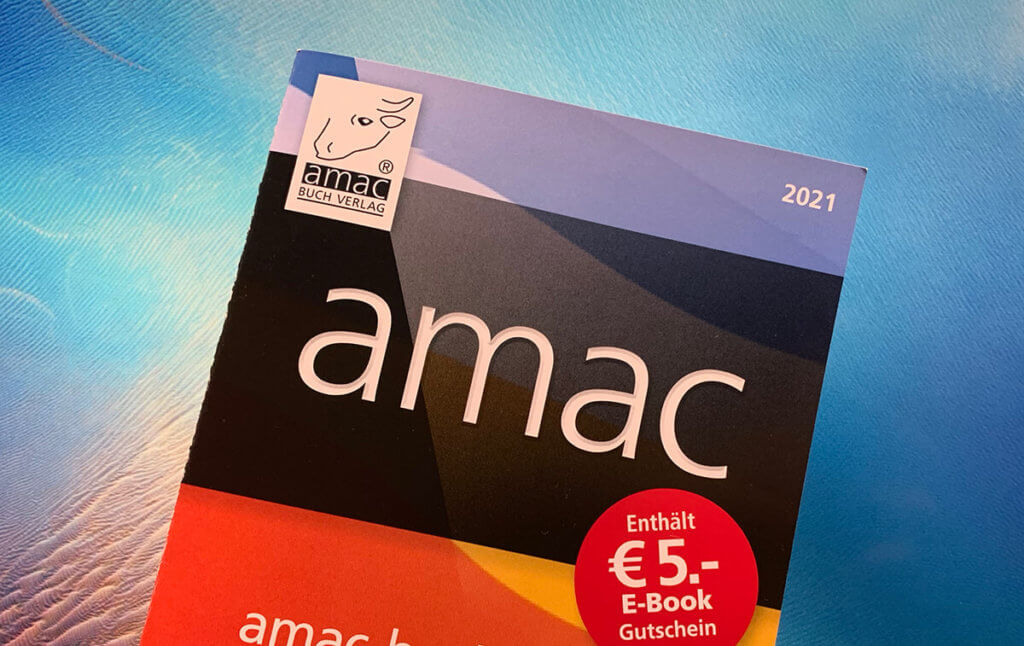 Das Verlagsprogramm 2021 vom amac-buch Verlag.