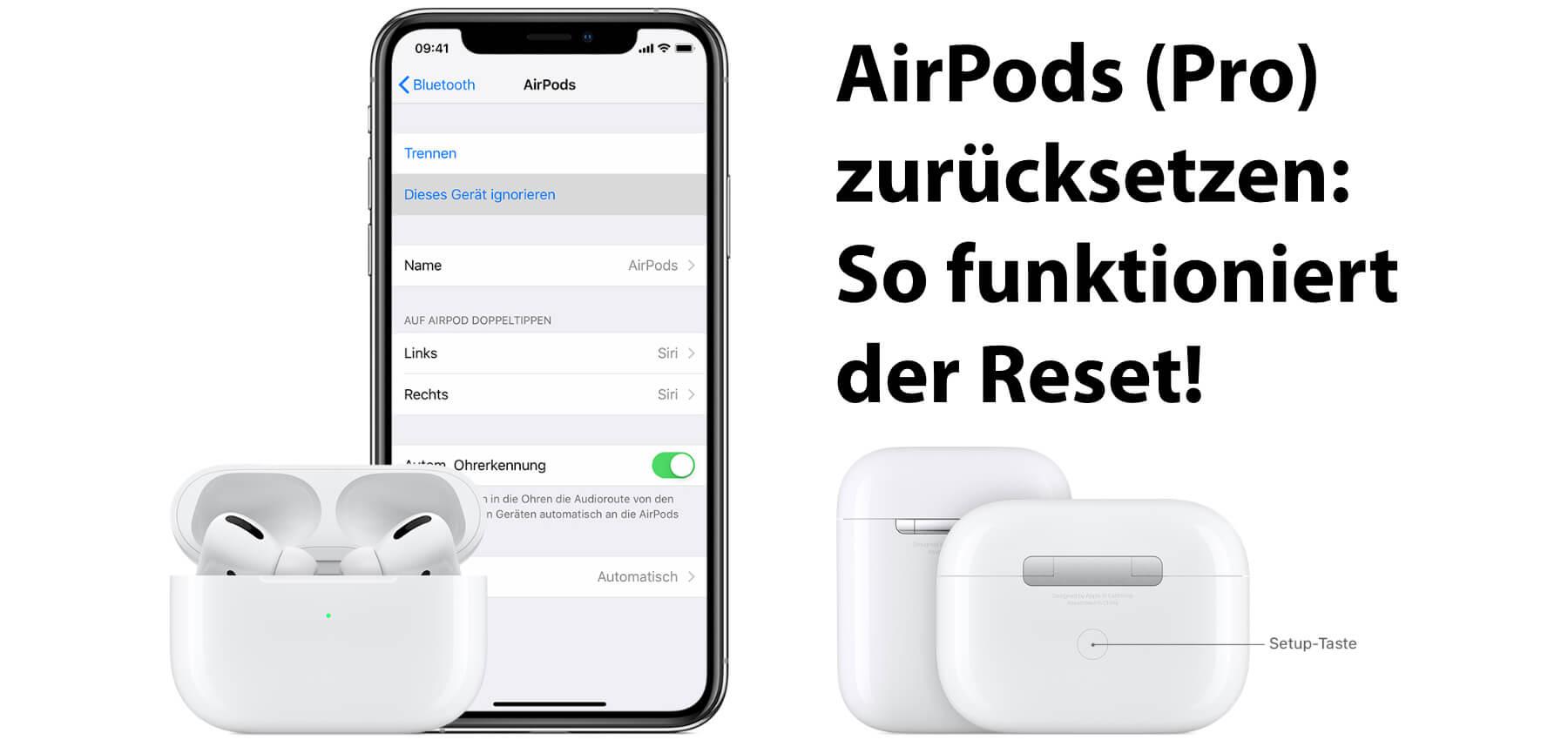 Wenn ihr die Apple AirPods Pro zurücksetzen wollt, findet ihr hier die richtige Schritt-für-Schritt-Anleitung für den Kopfhörer-Reset. AirPods Reset