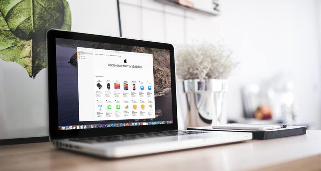 """Auf dem Mac kann man sich die Benutzerhandbücher von Apple über die """"Bücher""""-App laden  natürlich klappt das am iPhone oder iPad genauso gut."""