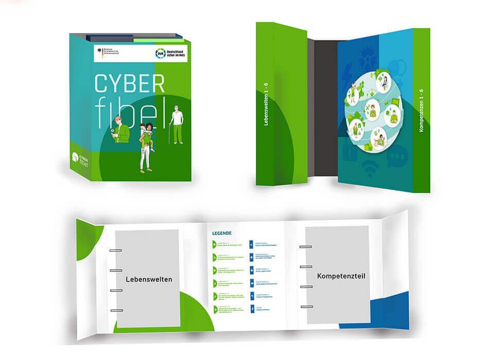 Die Print-Ausgabe der Cyberfibel bringt fast 2 kg auf die Waage und ist eher für Leute gedacht, die im Bildungswesen unterwegs sind.