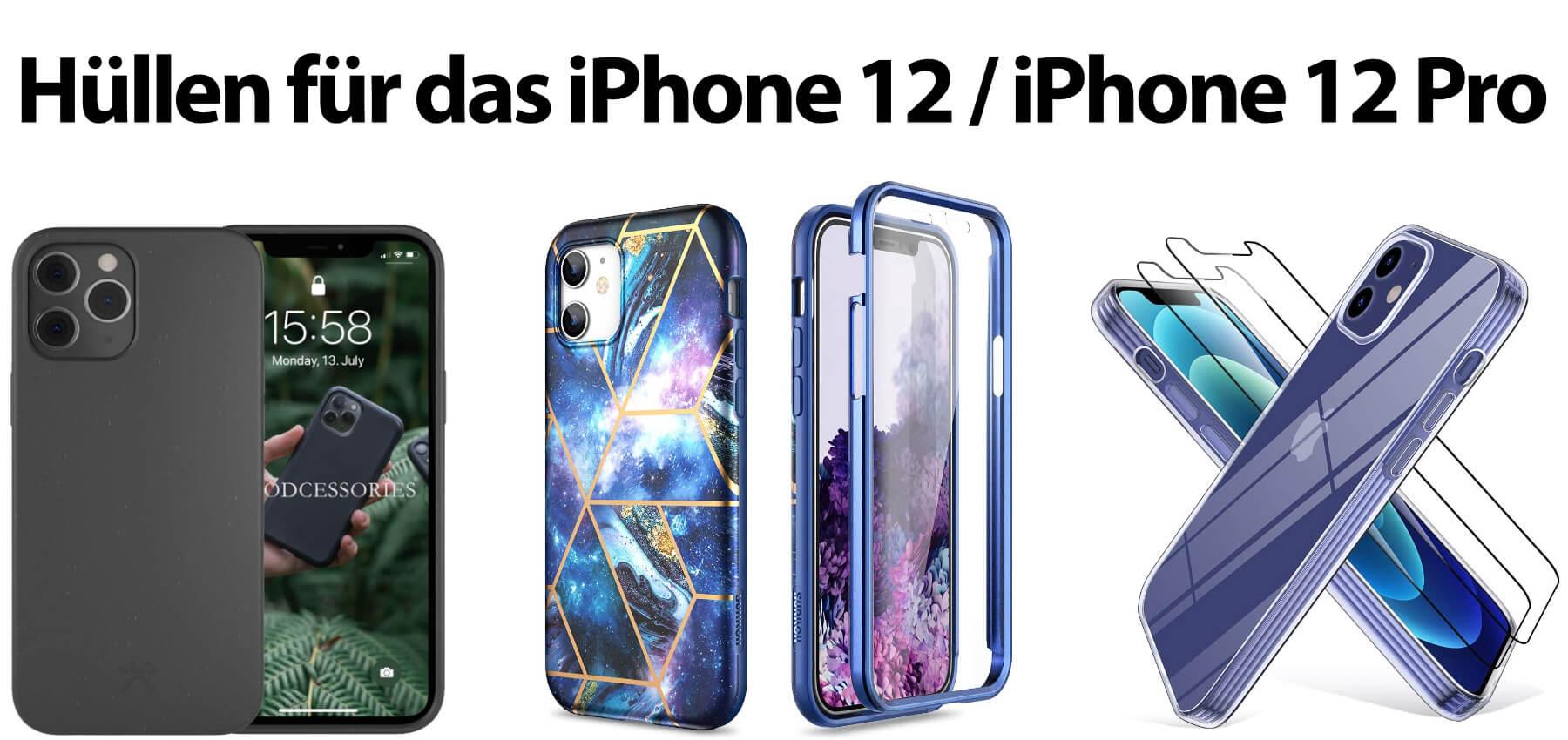 Hier findet ihr verschiedene iPhone 12 Hüllen und das passende iPhone 12 Pro Case. Transparente und bunte Handyhüllen für das Apple-Smartphone aus 2020.