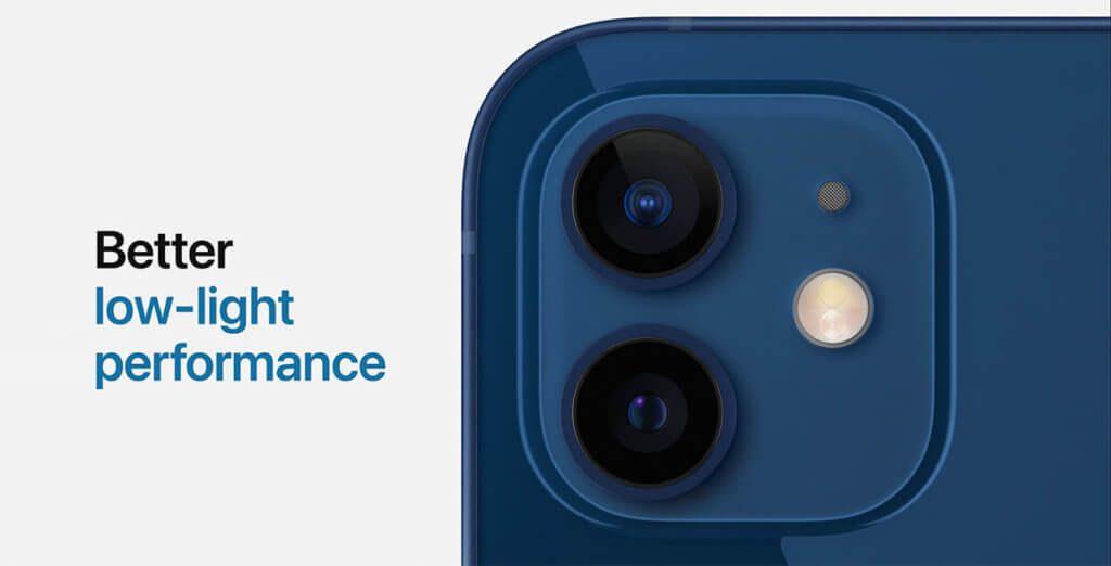 """Auch das """"einfache"""" iPhone 12 kann mit schlechten Lichtverhältnissen besser umgehen, als das iPhone 11."""