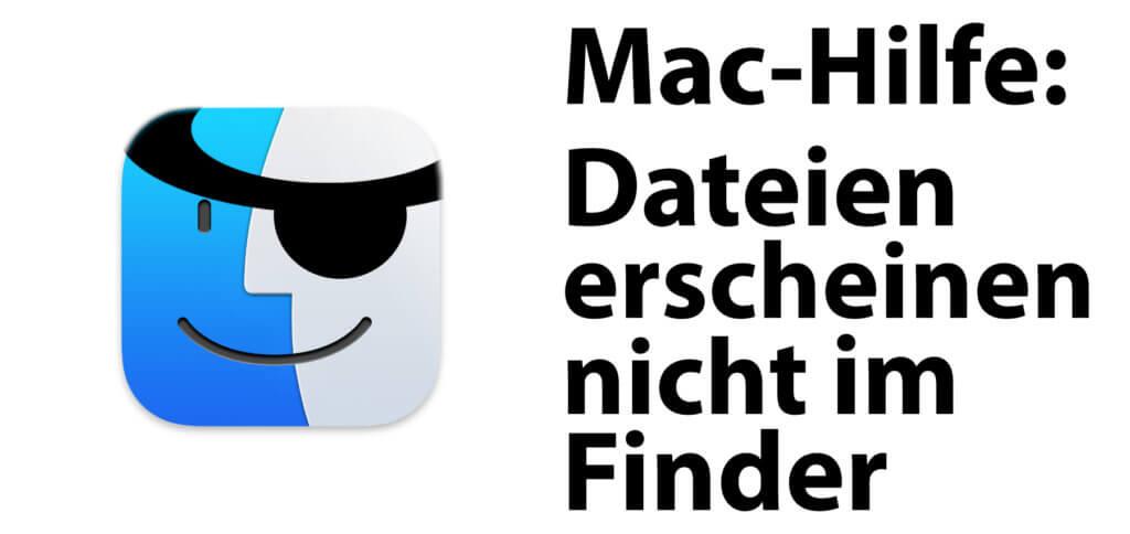 Mac-Problem: Dateien erscheinen nicht im Finder. Werden Dateien oder Ordner nicht im Finder angezeigt, gibt's mehrere Lösungen. Hier findet ihr Anleitungen für aktuelle macOS-Versionen.