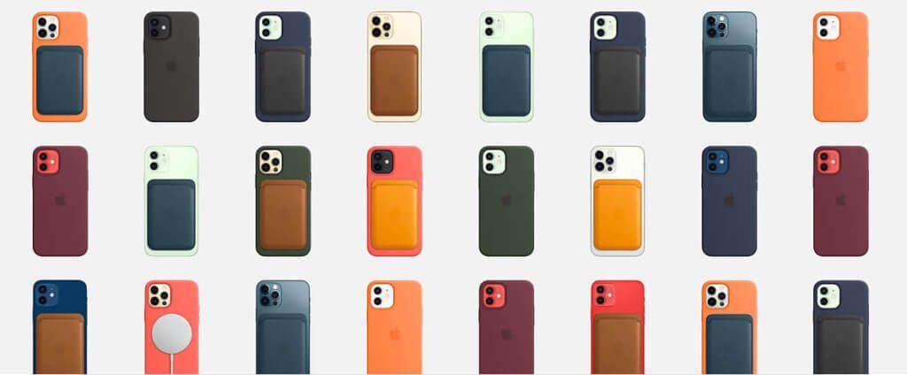 Die iPhone Wallet klebt man magnetisch auf die Rückseite des iPhone 12 und kann darin seine Kreditkarten verstauen (Fotos: Apple).