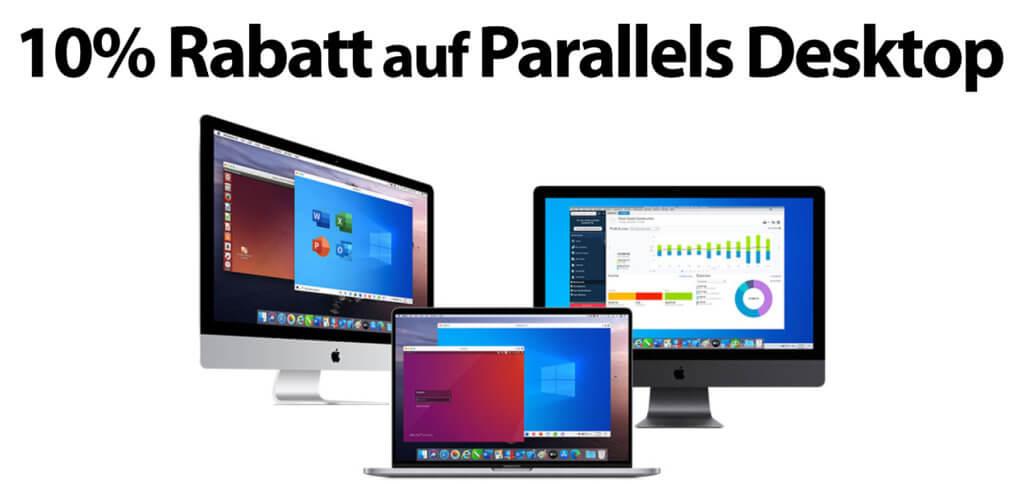Nur noch bis zum 31.10.2020 mit dem folgenden Code 10% Rabatt auf Parallels Desktop bekommen und die VM-Software für Windows am Apple Mac günstiger kaufen!